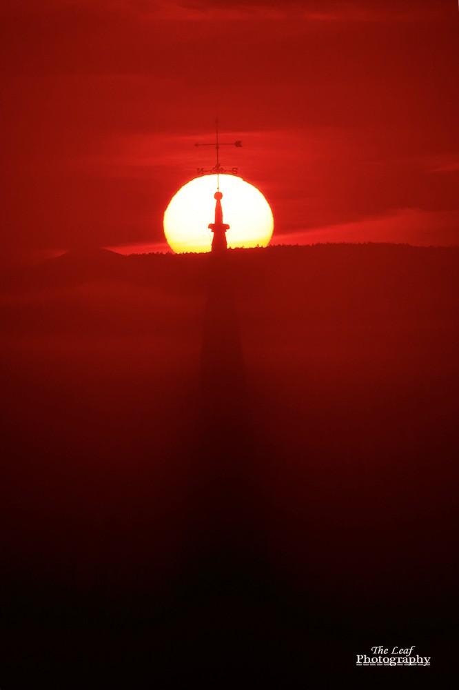 peacharm church Sun Rise 佛蒙特州日出和雾海 10-08-2021_图1-7