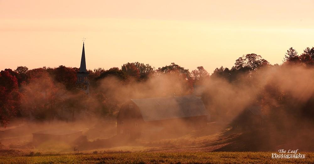 peacharm church Sun Rise 佛蒙特州日出和雾海 10-08-2021_图1-18