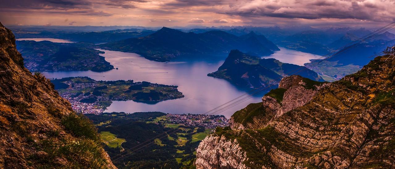 瑞士卢塞恩(Lucerne),湖中小岛_图1-11