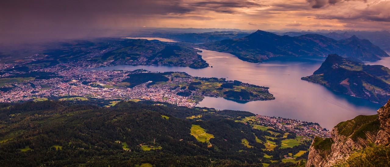 瑞士卢塞恩(Lucerne),湖中小岛_图1-7