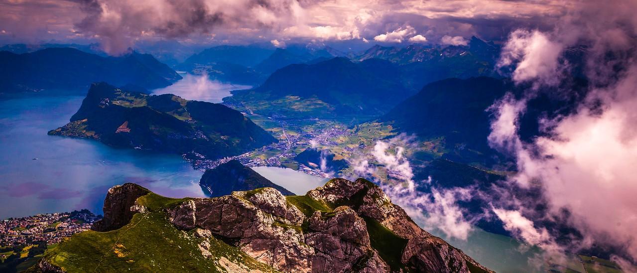 瑞士卢塞恩(Lucerne),湖中小岛_图1-6