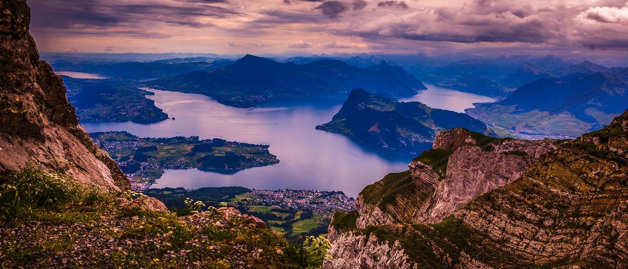瑞士卢塞恩(Lucerne),湖中小岛_图1-4