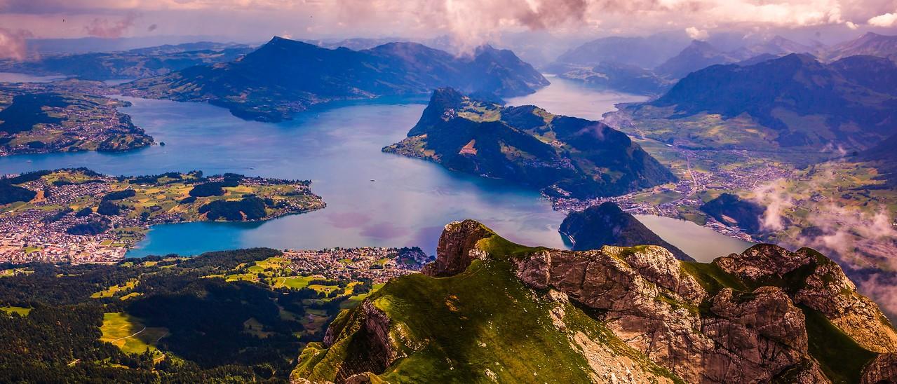 瑞士卢塞恩(Lucerne),湖中小岛_图1-1