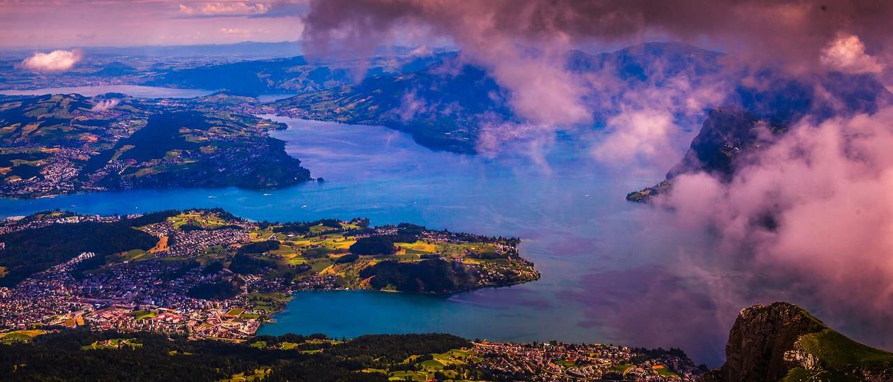 瑞士卢塞恩(Lucerne),湖中小岛_图1-3