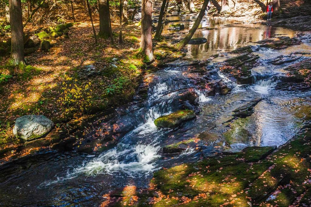 宾州布什基尔瀑布(Bushkill Falls),爬山看瀑布_图1-3