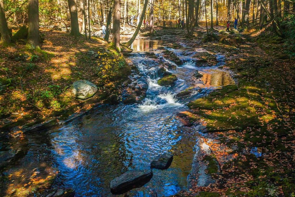 宾州布什基尔瀑布(Bushkill Falls),爬山看瀑布_图1-8