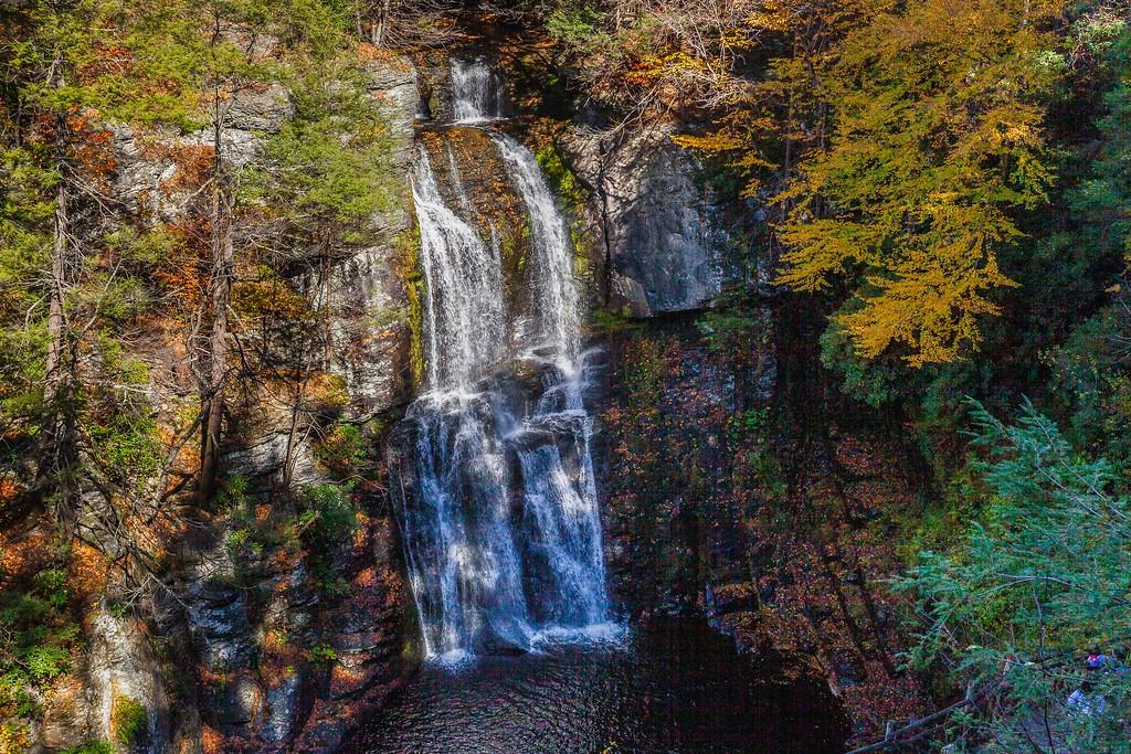 宾州布什基尔瀑布(Bushkill Falls),爬山看瀑布_图1-6