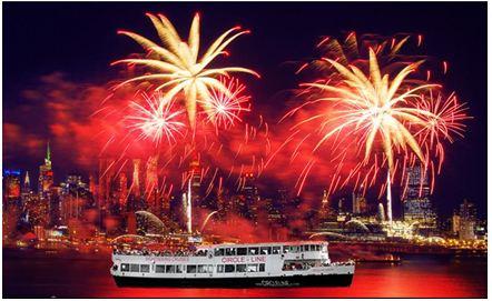 乘环线观光焰火邮轮,红红火火过新年!