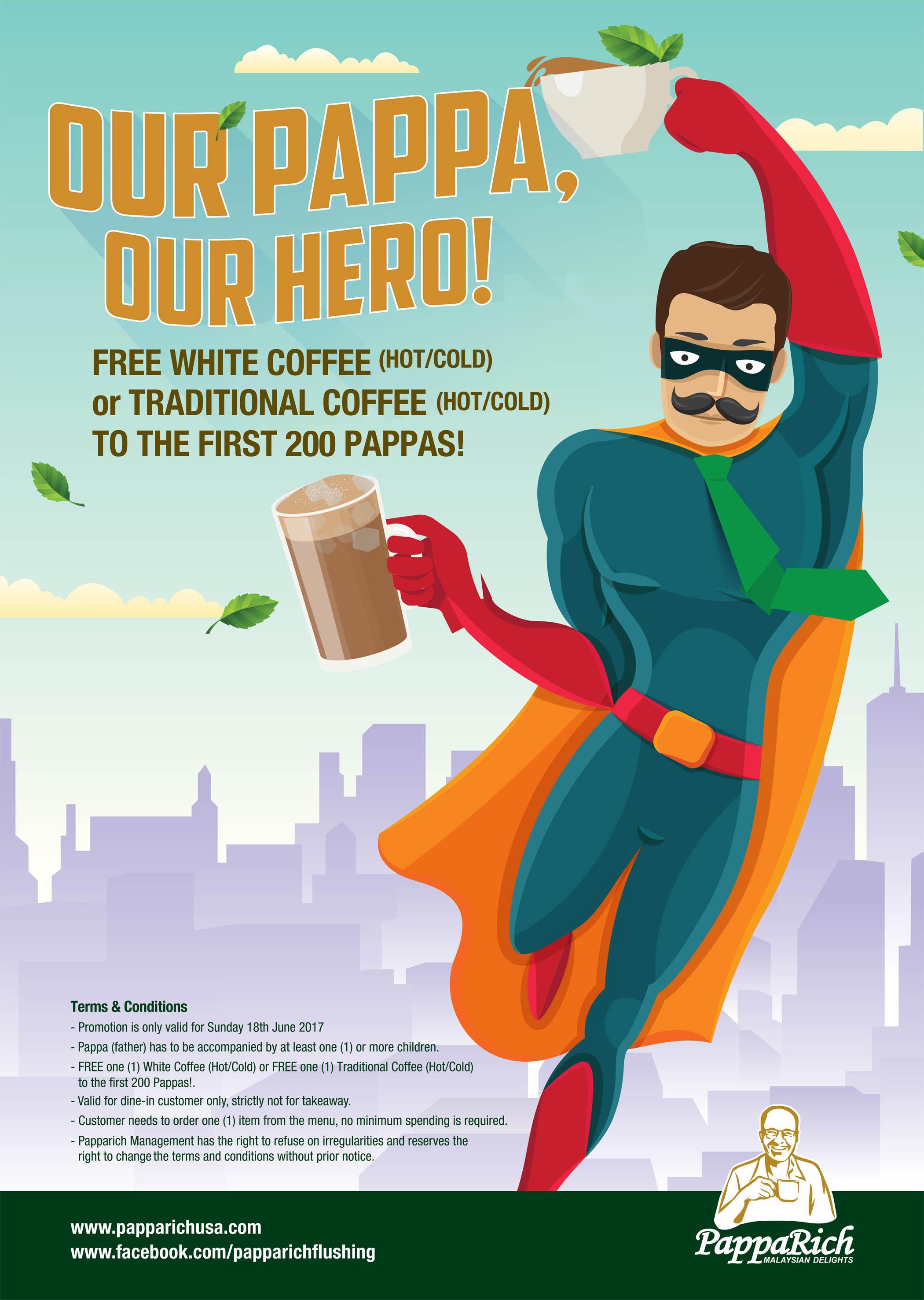 [好消息]父亲节带爸爸去喝免费白咖啡