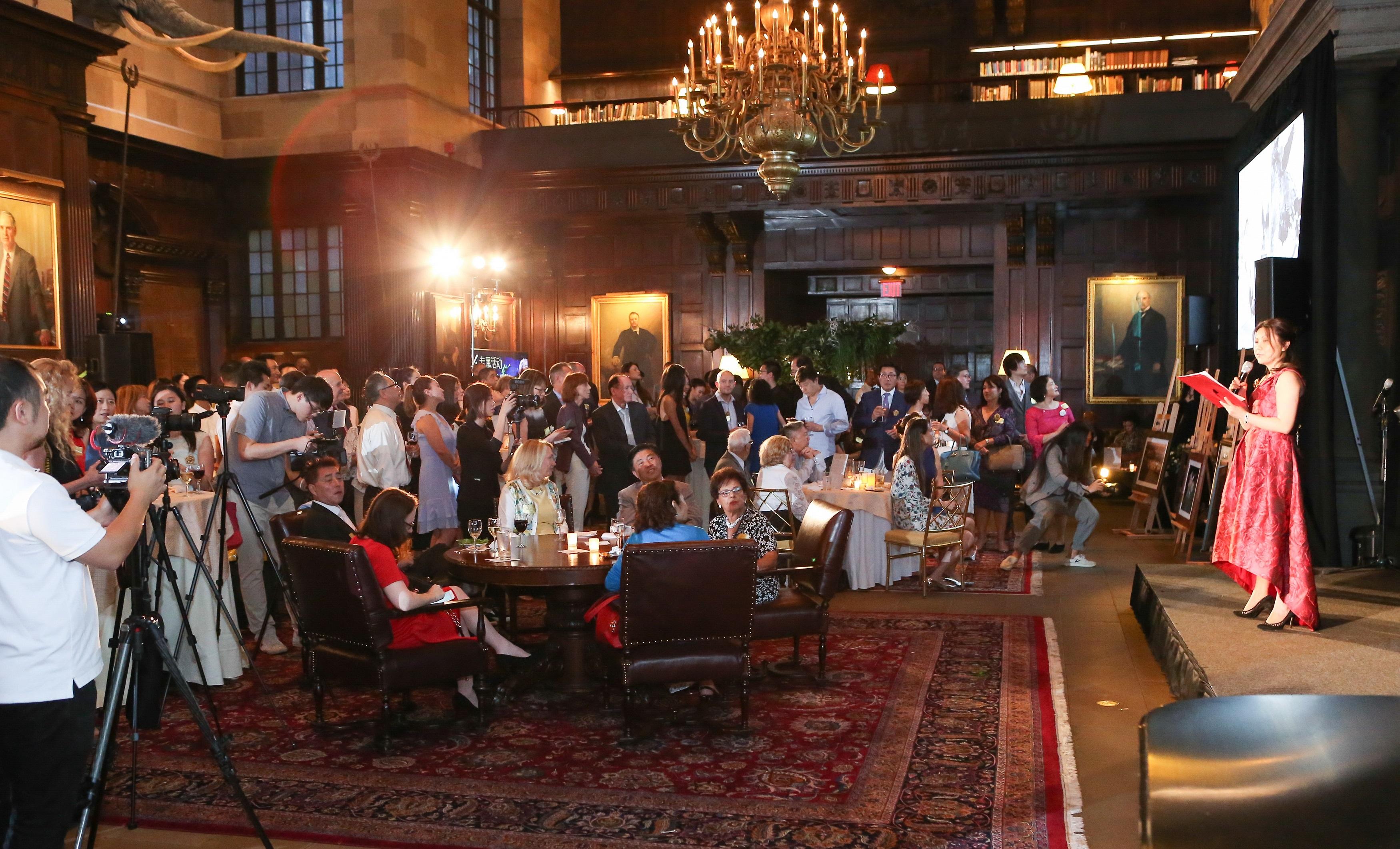 """山茶公司 """"同一棵树下""""公益活动在纽约哈佛俱乐部举行"""