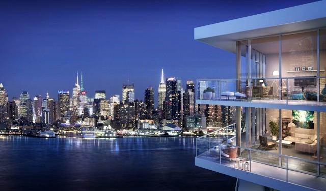 8分钟直达曼哈顿 纽约哈德逊河滨公寓80万美金起尊贵发售