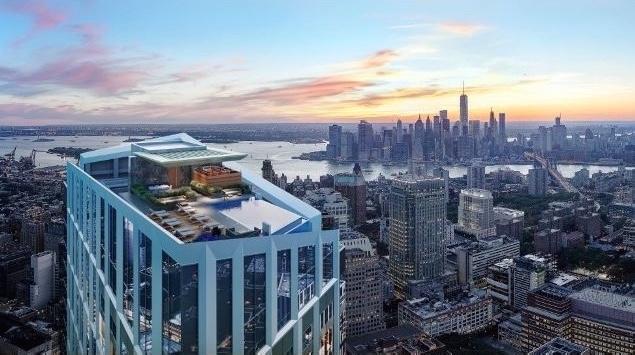 【地产】Extell地产超奢华公寓 享西半球最高天际泳池