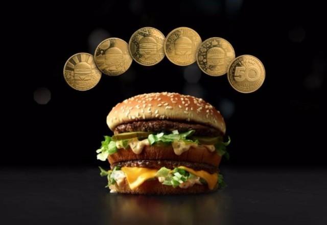 庆祝 Big Mac问世50周年 麦当劳推出限量版MacCoin