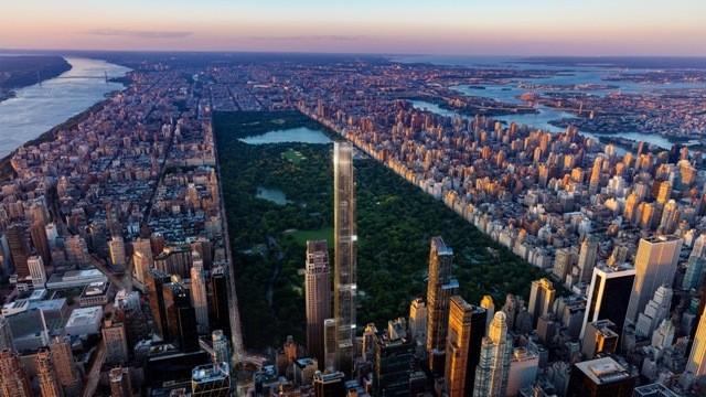 全球最高住宅楼Central Park Tower开售 成纽约最受瞩目楼盘