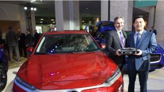 现代Kona汽油和电动跨界休旅车荣获2019年度北美风云休旅车