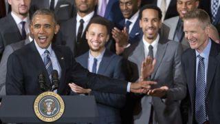 """不去白宫,金州勇士队访华盛顿与奥巴马""""叙旧"""""""