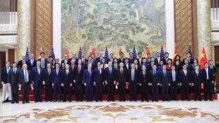 中美本轮经贸磋商结束 这大合影真不多见