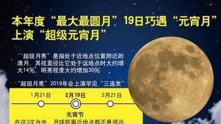 """19日23时54分""""元宵月""""最圆 中国公众可赏""""皓月当空照""""美景"""