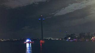 海洋世界缆车被大风吹停 16人寒风中等待救援