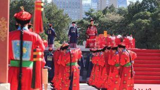 中国各地迎春分 北京日坛公园举行祭日典仪