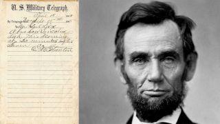 宣布林肯去世珍贵电报被发现 以50万美元出售