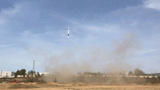 中国民营火箭完成第二次火箭发射及回收!高度40米
