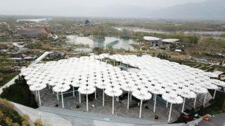 空中俯瞰北京世园会场馆