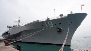 """美军第七舰队旗舰""""蓝岭""""号访香港"""