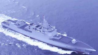 中国万吨级驱逐舰首舰海上航行画面首度公开