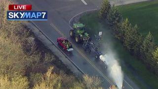 伊州罐车发生事故致氨气泄漏 32人吸入毒气后被送医