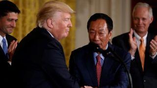 郭台铭告诉川普:若胜选他会做和平缔造者