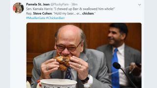 民主党议员抱全家桶狂啃 讽刺司法部长:懦夫、弱鸡!