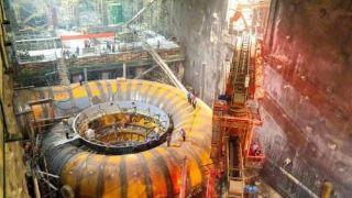 中国白鹤滩水电站全球首台百万千瓦机组蜗壳混凝土开浇