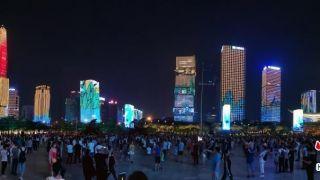 深圳灯光秀全新版本上演 新元素时尚亮眼