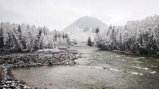 """一夜重回""""水墨世界""""!新疆阿勒泰山间村落盖满白雪"""