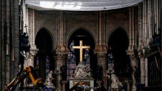 巴黎圣母院大火整一个月,教堂最新内景曝光