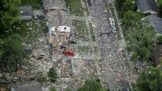 印州民宅发烈爆炸酿1死2重伤,房屋被夷为平地