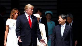 """川普会见天皇夫妇 成日本""""令和""""时代首位国宾"""