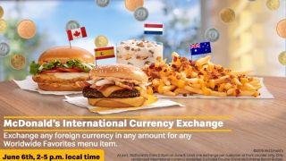 麦当劳欢庆首度在美推出全球超人气餐单 接受外国货币付款