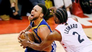 NBA总决赛第五场勇士1分险胜续命 杜兰特旧伤复发再退场