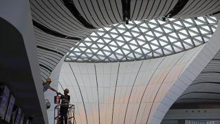北京大兴国际机场内部曝光 建设进入收尾阶段