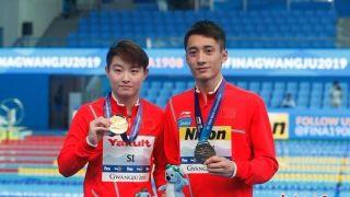 韩国光州世锦赛 跳水混双组合为中国队摘首金