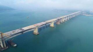 福建平潭海峡公铁两用大桥平潭段全线贯通