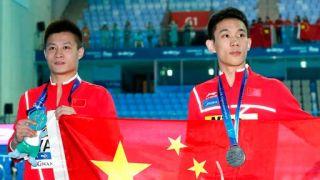 世界游泳锦标赛跳水比赛收官 中国队再揽男子10米台金银牌