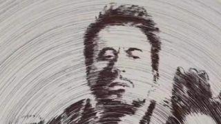 神操作!圆规转动3000圈 中国老师耗时13小时画出钢铁侠