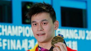 孙杨世锦赛自由泳200米意外摘冠 季军英国选手拒合影(图)
