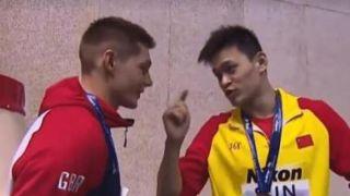 国际泳联对斯科特和孙杨发出警告:举止不当