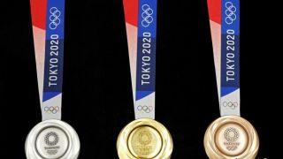 """2020年东京奥运会奖牌亮相 全部来自""""废铁"""""""