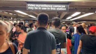 纽约地铁7号线撞人 晚高峰通勤大受影响