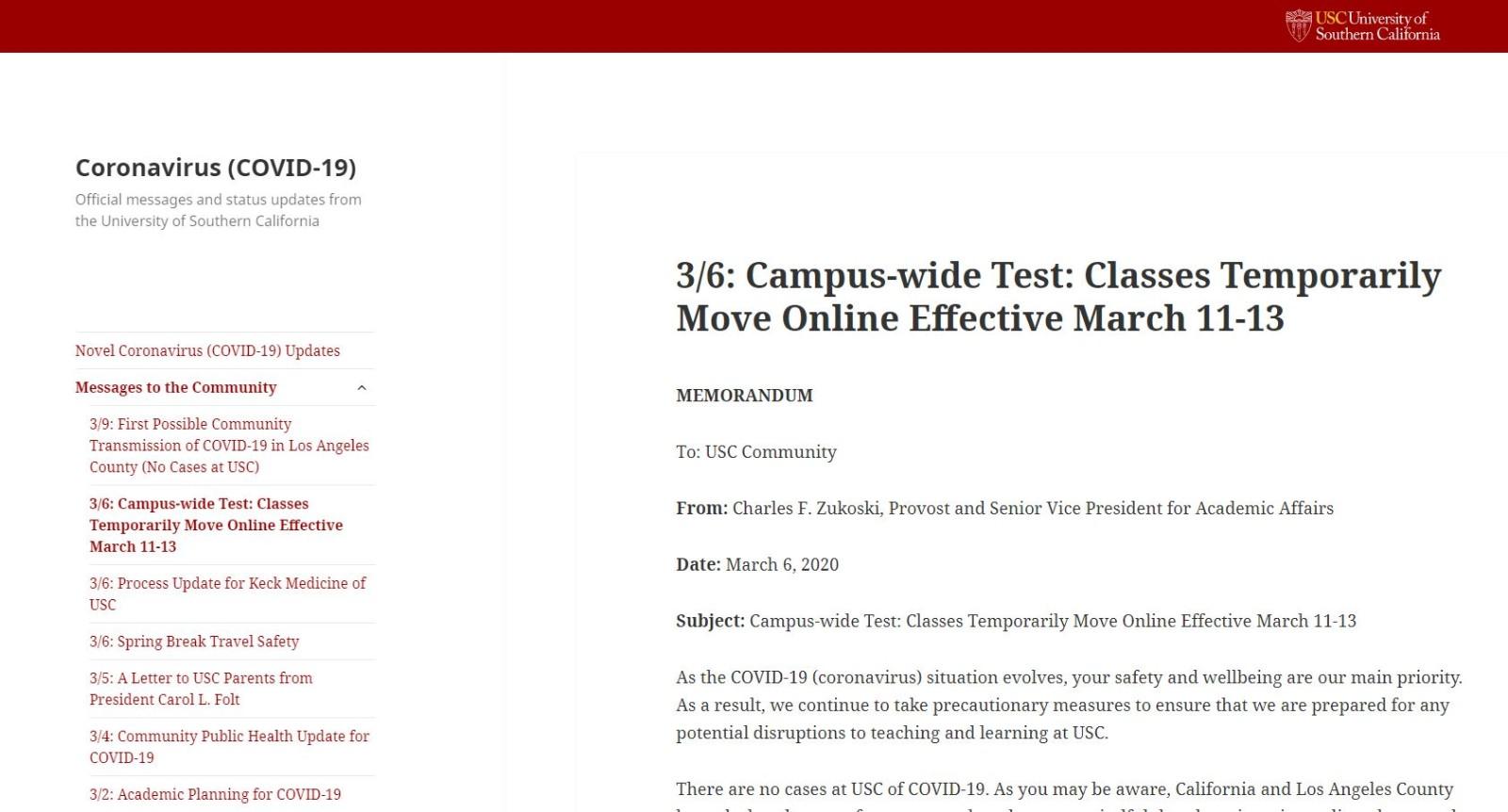 UCLA、USC 周三起停课改为网上授课_图1-5